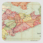 Mackinlay's map of the Province of Nova Scotia 4 Square Stickers