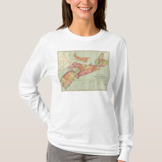 Mackinlay's map of the Province of Nova Scotia 4 T-Shirt