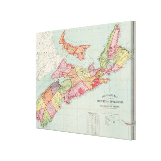 Mackinlay's map of the Province of Nova Scotia Canvas Print
