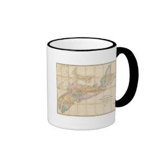 Mackinlay's map of the Province of Nova Scotia Ringer Mug