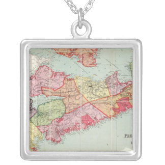 Mackinlay's map of the Province of Nova Scotia Square Pendant Necklace