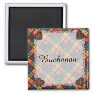 MacKinley clan Plaid Scottish kilt tartan 2 Inch Square Magnet