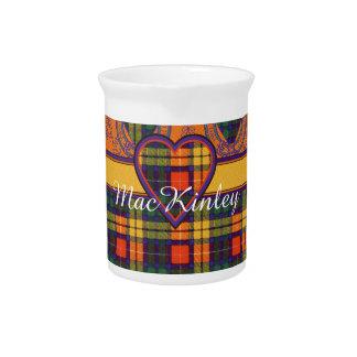 MacKinley clan Plaid Scottish kilt tartan Beverage Pitcher