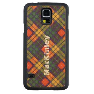 MacKinley clan Plaid Scottish kilt tartan Carved Maple Galaxy S5 Slim Case