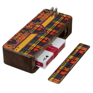 MacKinley clan Plaid Scottish kilt tartan Cribbage Board