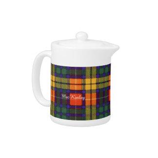 MacKinley clan Plaid Scottish kilt tartan Teapot