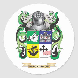 MacKinnon Coat of Arms (Family Crest) Round Stickers