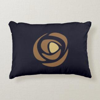 Mackinrose Copper Art Nouveau Roses Accent Pillow