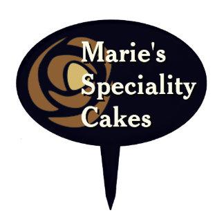 Mackinrose Copper Art Nouveau Roses Cake Topper