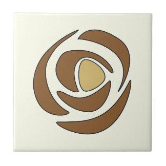 Mackinrose Copper Art Nouveau Roses Ceramic Tile