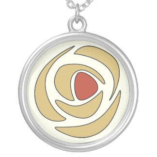 Mackinrose Gold Art Nouveau Rose Silver Plated Necklace
