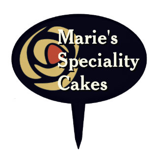 Mackinrose Gold Art Nouveau Roses Cake Topper
