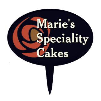 Mackinrose Pomegranate Art Nouveau Roses Cake Topper
