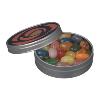 Mackinrose Pomegranate Art Nouveau Roses Jelly Belly Candy Tins
