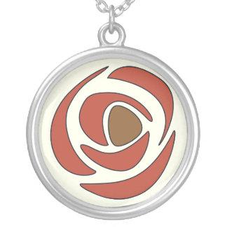 Mackinrose Pomegranie Art Nouveau Rose Silver Plated Necklace