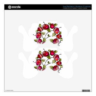 Mackintosh rose motif PS3 controller decals