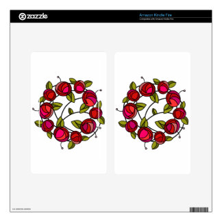 Mackintosh rose motif skin for kindle fire