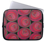 Mackintosh Style Roses Pattern in Pink and Red Laptop Sleeve