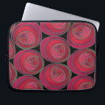 "Mackintosh Style Roses Pattern in Pink and Red Laptop Sleeve<br><div class=""desc"">A simple,  stylized geometric Art Nouveau roses pattern in feminine pink and red. Inspired by the Glasgow Style of Charles Rennie Mackintosh.</div>"