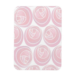 Mackintosh Style Roses Pattern in Pink and White Magnet