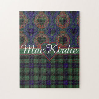 MacKirdie clan Plaid Scottish kilt tartan Jigsaw Puzzle