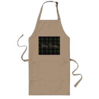 MacKirdy clan Plaid Scottish tartan Long Apron