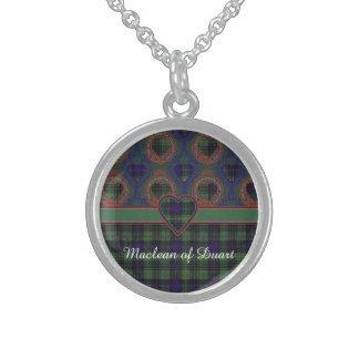 MacKirdy clan Plaid Scottish tartan Round Pendant Necklace
