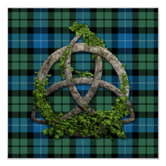 MacKirdy Tartan And Celtic Trinity Knot Poster
