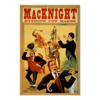MacKnight Hypnotist Vintage Magic Poster