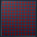"MacLachlan Clan Royal Blue and Red Scottish Tartan Napkin<br><div class=""desc"">Cloth napkins with the family tartan for Clan MacLachlan and its septs,  including Ewing and Gilchrist. Vintage Scottish plaid pattern dated to 1831 in bright red and royal blue,  with black and green accents. Choose from two sizes. Matching table runner available.</div>"