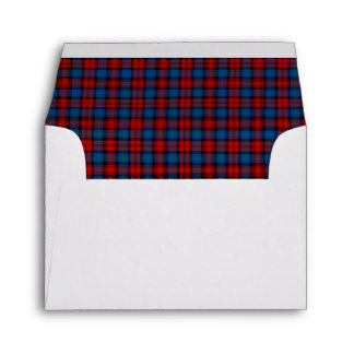 MacLachlan Clan Tartan Red and Royal Blue Plaid Envelope