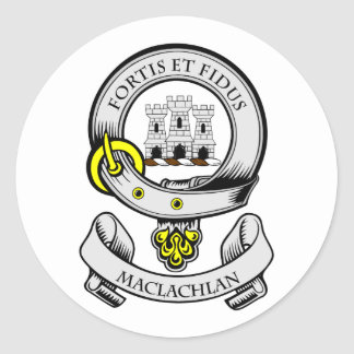 MACLACHLAN Coat of Arms Classic Round Sticker
