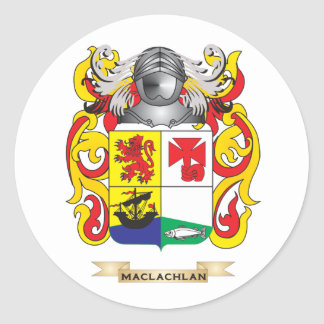 MacLachlan Coat of Arms (Family Crest) Classic Round Sticker