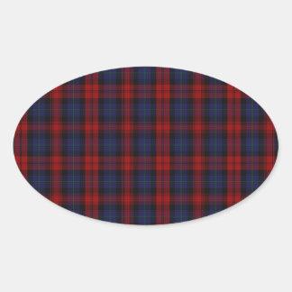 MacLachlan /  McLaughlin Clan Tartan Oval Sticker