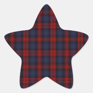 MacLachlan /  McLaughlin Clan Tartan Star Sticker