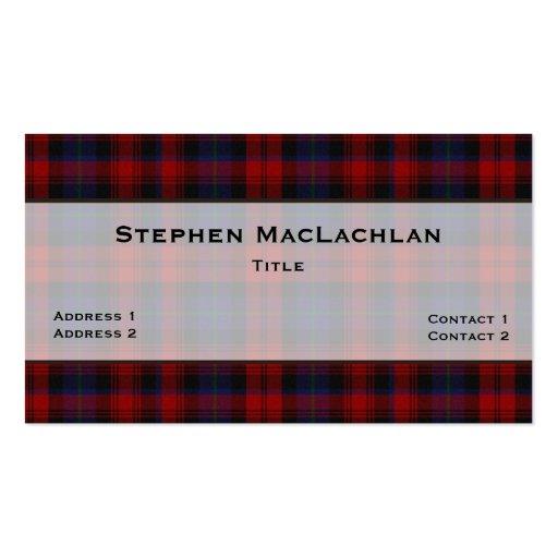 MacLachlan Tartan Plaid Custom Business Card Template