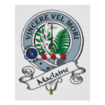 Maclaine Clan Badge Poster