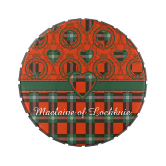 Maclaine del tartán del escocés de la tela latas de caramelos