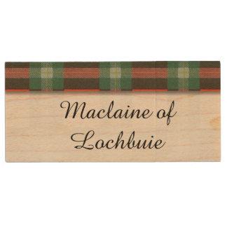 Maclaine del tartán del escocés de la tela memoria USB 2.0 de madera