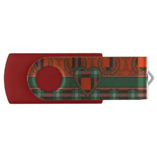 Maclaine del tartán del escocés de la tela pen drive giratorio USB 3.0