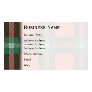 Maclaine del tartán del escocés de la tela tarjetas de visita