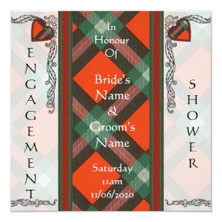 """Maclaine del tartán del escocés de Lochbuie Invitación 5.25"""" X 5.25"""""""