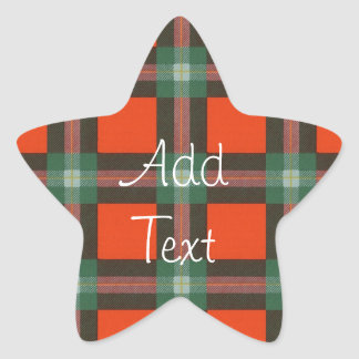 Maclaine del tartán del escocés de Lochbuie Pegatina En Forma De Estrella