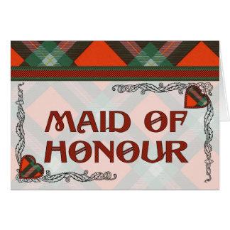 Maclaine del tartán del escocés de Lochbuie Tarjeta De Felicitación