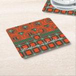 Maclaine of Lochbuie clan Plaid Scottish tartan Square Paper Coaster
