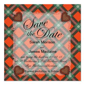 Maclaine of Lochbuie Scottish clan tartan - Plaid Card