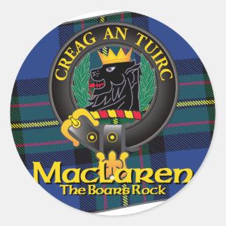 MacLaren Clan Classic Round Sticker