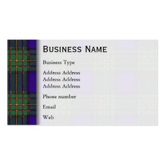 Maclaren clan Plaid Scottish tartan Business Card Template