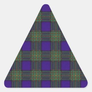 Maclaren clan Plaid Scottish tartan Triangle Sticker