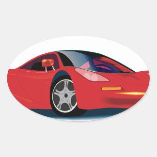 MacLaren Race Car Beautifully Rendered Oval Sticker